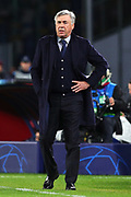 Head coach of Napoli Carlo Ancelotti gestures during the UEFA Champions League, Group E football match between SSC Napoli and KRC Genk on December 10, 2019 at Stadio San Paolo in Naples, Italy - Photo Federico Proietti / ProSportsImages / DPPI