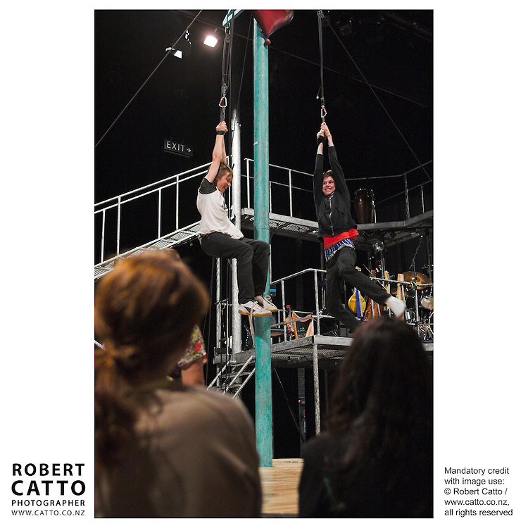 Students work with Emma Rice and members of Kneehigh Theatre Company from Cornwall in a SchoolFest workshop entitled Director's Cut.  The workshop included physical theatre work in a studio, and a visit to the set of the group's production of Tristan & Yseult.