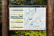 Iceberg-Ptarmigan Trailhead sign, Many Glacier, Glacier National Park, Montana USA