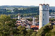 Blick auf Mehlsack und die Altstadt von Ravensburg, Baden-Württemberg, Deutschland