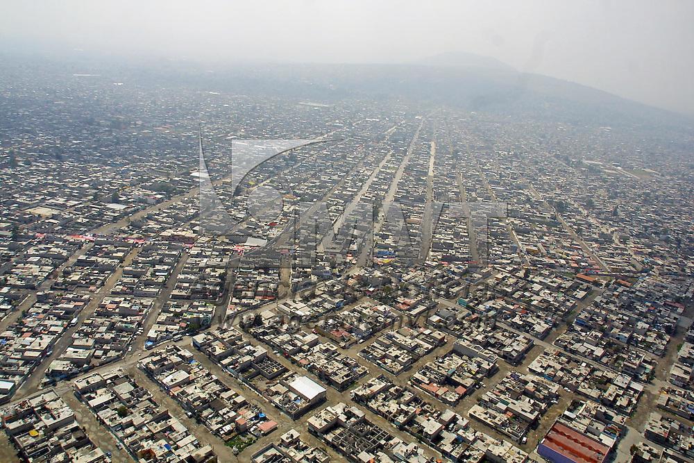 Chimalhuacan, M&eacute;x.- Vista aerea de la zona de chimalhuacan en el valle de Mexico. Agencia MVT / Mario Vazquez de la Torre. (DIGITAL)<br /> <br /> NO ARCHIVAR - NO ARCHIVE