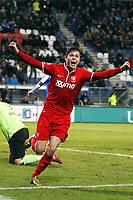 HEERENVEEN , Voetbal Eredivisie seizoen 2013 / 2014 , Abe Lenstrastadion  , 05-02-2014 , SC Heerenveen - FC Twente 0-2 . Torgeir Børven scoort de 0-2.<br /> <br /> Norway only