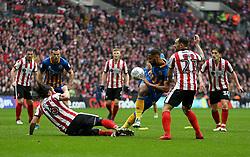 Shrewsbury Town's Ben Godfrey in action during the Checkatrade Trophy final at Wembley Stadium, London.