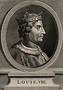 Louis VIII, the Lion (1187-1226) a member of the Capetian dynasty, king of France from 1223.  In the First Baron's War (1216) against King John, Louis was offered the throne of England and was proclaimed king in London in May 1216.  On 14 June he captured