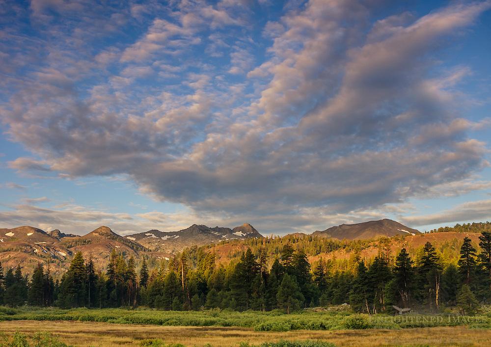 Mountains of the Sierra Nevada from Faith Valley, Alpine County, California