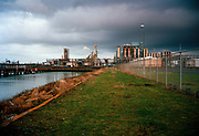 A desolated industrial landscape, Port of Rotterdam. © Holland Kodak Ektar serie