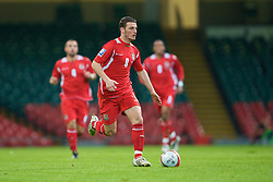 CARDIFF, WALES - Saturday, October 11, 2008: Wales' Jason Koumas in action against Liechtenstein during the 2010 FIFA World Cup South Africa Qualifying Group 4 match at the Millennium Stadium. (Photo by David Rawcliffe/Propaganda)