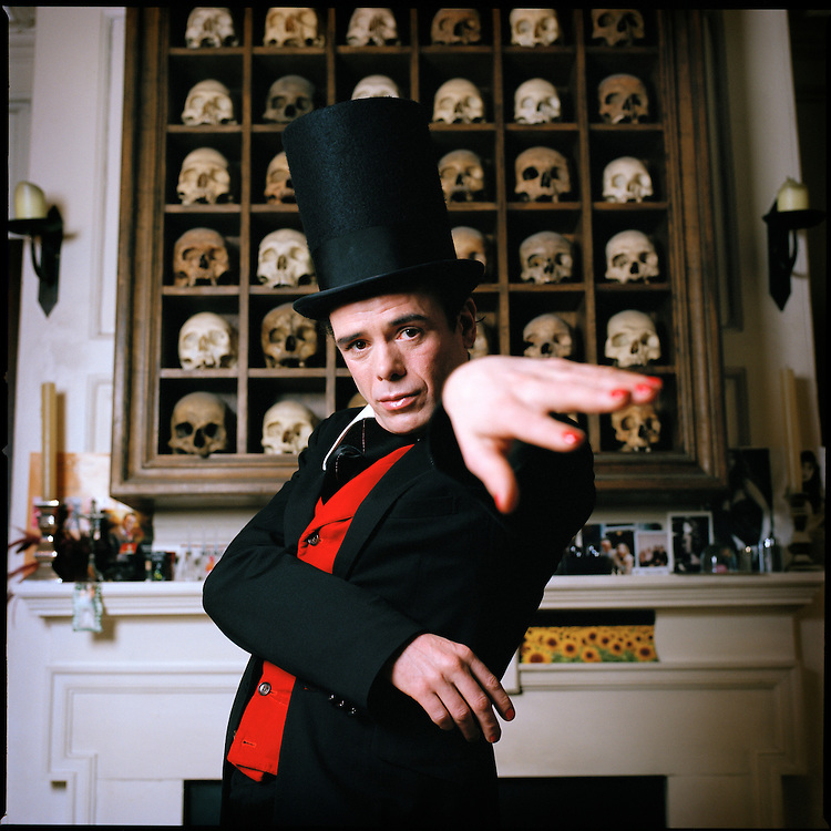 British author Sebastian Horsley wearing his flamboyant dandy uniform. Horsley, author of 'Dandy in the Underworld', an autobiography of drug addiction and sex, died of a drug overdose in 2010.