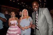 ALLEGRA FELTZ; VANESSA FELTZ; BEN OFEODU, The Tomodachi ( Friends) Charity Dinner hosted by Chef Nobu Matsuhisa in aid of the Japanese Tsunami Appeal. Nobu Park Lane. London. 4 May 2011. <br /> <br />  , -DO NOT ARCHIVE-© Copyright Photograph by Dafydd Jones. 248 Clapham Rd. London SW9 0PZ. Tel 0207 820 0771. www.dafjones.com.