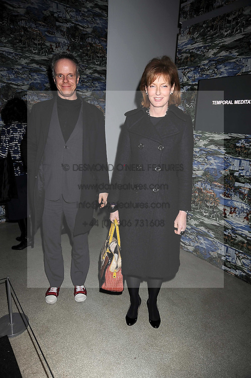 JULIA PEYTON-JONES and HANS ULRICH OBRIST at a retrospective exhibition of Hussein Chalayan's designs sponsored by Puma at The Design Museum, London SE1 on 21st January 2009.
