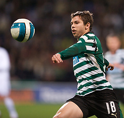 BOLTON, ENGLAND - Thursday, March 6, 2008: Sporting Clube de Portugal's Leandro Grimi during the UEFA Cup Round of 16 1st Leg match at the Reebok Stadium. (Pic by David Rawcliffe/Propaganda)