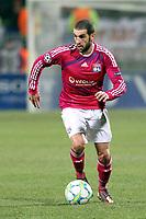FOOTBALL - UEFA CHAMPIONS LEAGUE 2011/2012 - 1/8 FINAL - 1ST LEG - OLYMPIQUE LYONNAIS v APOEL FC - 14/02/2012 - PHOTO EDDY LEMAISTRE / DPPI - LISANDRO LOPEZ (OL)