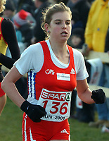 Friidrett: EM terrengløp. 09.12.2001 Thun, Schweiz,<br />Die Schweizerin Anita Weyermann an der Cross Europameisterschaft im schweizerischen Thun.<br /><br />FOTO: PETER SCHNEIDER, Digitalsport