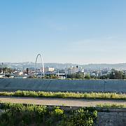 The city of Tijuana, Baja California, seen from the border bridge that links Tijuana to San Ysidro, on the American side of the border