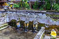 Bali, Gianyar, Goa Gajah. The elephant cave. Holy water from Gunung Batur.
