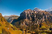 The Monch massif from Murren, Swiss Alps, Canton Bern, Switzerland