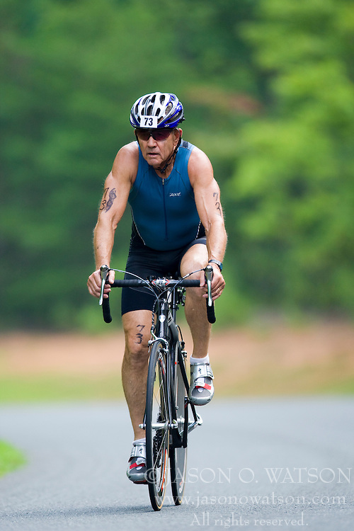 CHARLOTTESVILLE, VA - July 27, 2008 - TOMMY HARRIS in The 2008 Charlottesville International Triathlon was held at Walnut Creek Park in Albemarle County near Charlottesville, Virginia, USA.