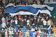 The Bury fans during the Sky Bet League 1 match between Bury and Millwall at the JD Stadium, Bury, England on 23 April 2016. Photo by Mark Pollitt.