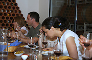 Israel, Judea Hills, wine tasting at Tzora winery