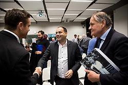 Gregor Krusic, Andrej Slapar and Marko Umberger during General Assembly of Slovenian Tennis Federation, on December 12, 2018 in Kristalna palaca, Ljubljana, Slovenia. Photo by Vid Ponikvar / Sportida