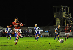 Connor Lemonheigh-Evans of Bristol City scores from the penalty spot - Mandatory by-line: Paul Knight/JMP - 16/11/2017 - FOOTBALL - Woodspring Stadium - Weston-super-Mare, England - Bristol City U23 v Bristol Rovers U23 - Central League Cup