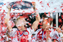 15-05-2019 NED: De Graafschap - Ajax, Doetinchem<br /> Round 34 / It wasn't really exciting anymore, but after the match against De Graafschap (1-4) it is official: Ajax is champion of the Netherlands Donny van de Beek #6 of Ajax, Matthijs de Ligt #4 of Ajax