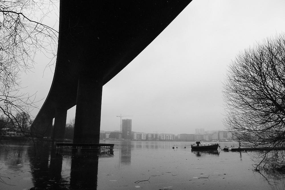 Nya järnvägsbron över Årstaviken för stambanan söderut