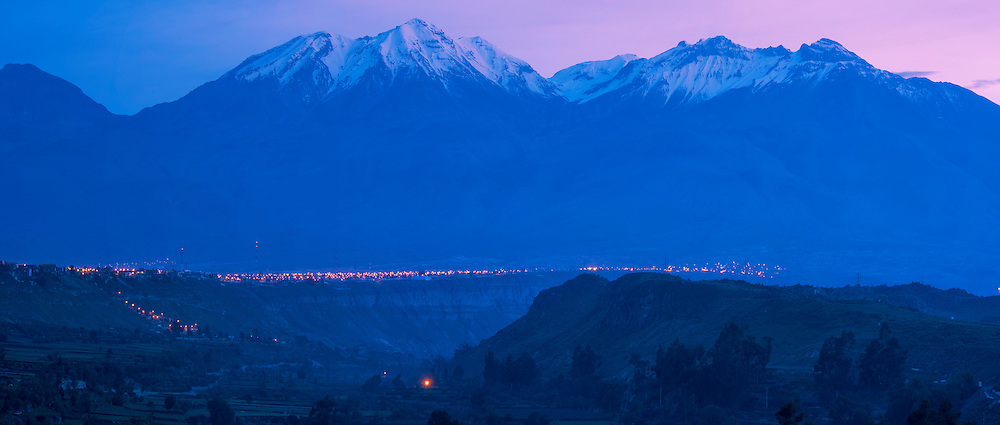 South America,Peru, Arequipa,andes mountains at dawn