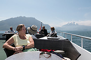 Lucerne, SWITZERLAND<br /> <br /> Passengers on the Upper Deck enjoy the views during a Day trip on lake Lucerne<br /> <br /> Wednesday  <br />  <br />   25.05.2017<br /> <br /> <br /> © Peter SPURRIER<br /> <br /> Panasonic  DMC-LX100  f5.6  1/2000sec  28mm  5.8MB