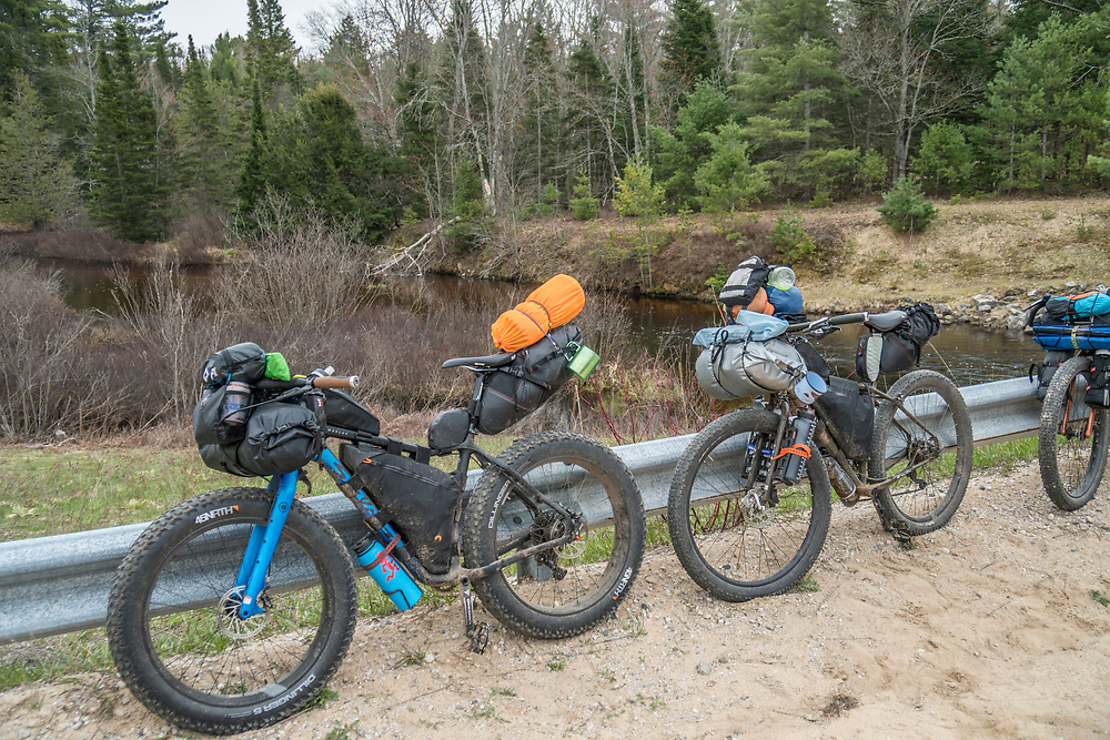 Bikepacking through Michigan's Upper Peninsula.