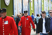 Chelsea pensioners during the Premier League match between Chelsea and Sunderland at Stamford Bridge, London, England on 21 May 2017. Photo by John Potts.