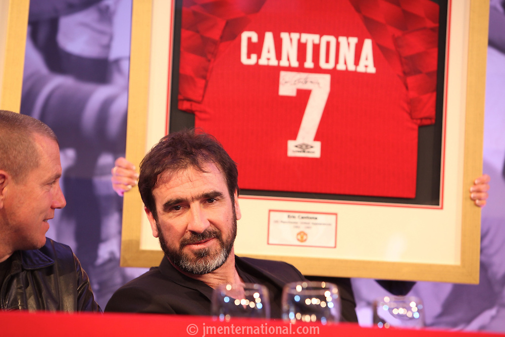 The Football Extravaganza, Eric Cantona receives the Legend of Football Award in aid of Nordoff Robbins..Monday, April.12, 2010. (Photo/John Marshall JME)