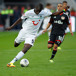 28.09.2013, BayArena, Leverkusen, GER, 1. FBL, Bayer 04 Leverkusen vs Hannover 96, 7. Runde, im Bild Schuss von Salif Sane #5 (Hannover 96). Aktion, Action // during the German Bundesliga 7th round match between Bayer 04 Leverkusen and Hannover at the BayArena, Leverkusen, Germany on 2013/09/28. EXPA Pictures © 2013, PhotoCredit: EXPA/ Eibner/ Grimme<br /> <br /> ***** ATTENTION - OUT OF GER *****