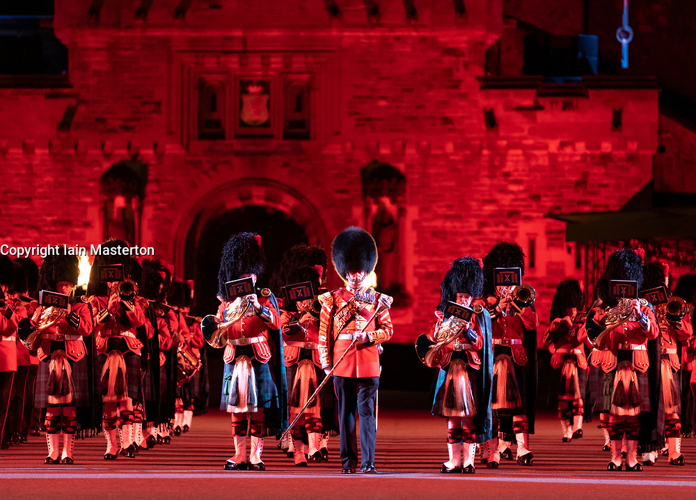Edinburgh, Scotland, UK. 5 August, 2019.  The Royal Edinburgh Military Tattoo forms part of the Edinburgh International festival. Pictured; The Massed Military Bands