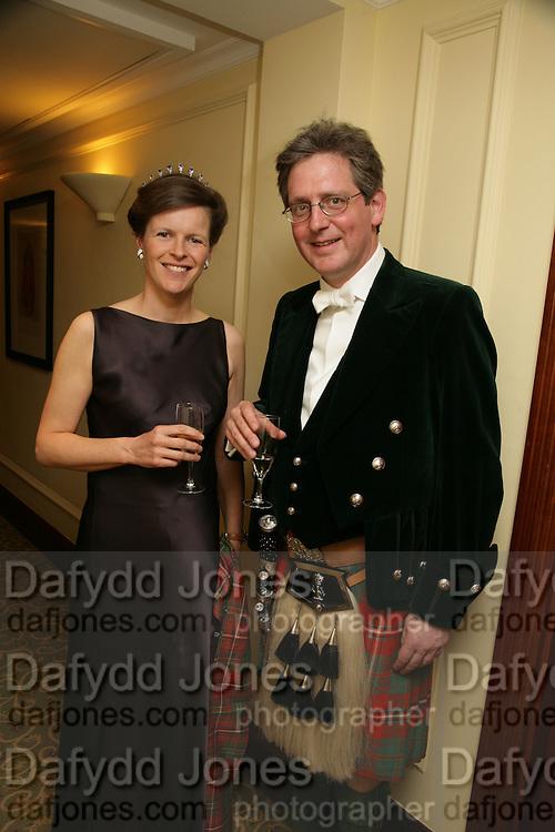 Viscount and Viscountess Dupplin, The Royal Caledonian Ball 2007. Grosvenor House. 4 May 2007.  -DO NOT ARCHIVE-© Copyright Photograph by Dafydd Jones. 248 Clapham Rd. London SW9 0PZ. Tel 0207 820 0771. www.dafjones.com.