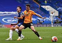 Football - 2019 / 2020 Premier League - Chelsea vs. Wolverhampton Wanderers<br /> <br /> Chelsea's Cesar Azpilicueta is fouled by Wolverhampton Wanderers' Diogo Jota, at Stamford Bridge.<br /> <br /> COLORSPORT/ASHLEY WESTERN