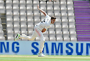 Morne Morkel of Surrey bowling during the Specsavers County Champ Div 1 match between Hampshire County Cricket Club and Surrey County Cricket Club at the Ageas Bowl, Southampton, United Kingdom on 11 June 2018. Picture by Graham Hunt.