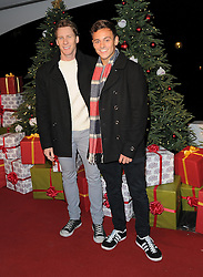 Tom Daley and Dustin Lance Black attend the Winter Wonderland VIP launch at Hyde Park in London, UK. 19/11/2015<br /> BYLINE MUST READ : GOTCHAIMAGES.COM<br /> <br /> Copyright by © Gotcha Images Ltd. All rights reserved.<br /> Usage of this image is conditional upon the acceptance <br /> of Gotcha Images Ltd, terms and conditions available at<br /> www.gotchaimages.com