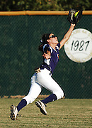 ANDREW JANSEN / JOURNAL<br /> Alana Hester, Eureka, makes the catch in centerfield in the Wildcats 3-2 win over Lafayette.