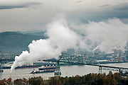 Longview is already host to a lot of heavy industry and has a busy port. A proposed coal terminal is met by protests from the Cowlitz nation.. The Cowlitz nation is among several native americans protesting three coal terminals along the riverbanks of Columbia River.