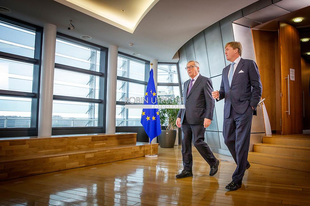 3-11-2015 BRUSSELS - King Willem Alexander  meets  Jean-Claude Juncker, voorzitter van de Europese Commissie. AND FRANS TIMMERMANS   King Willem Alexander visit the European Union in Brussels . COPYRIGHT ROBIN UTRECHT