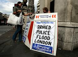 UK ENGLAND LONDON 28JUL05 - Evening Standard newspaper stand in central London following two terrorist attacks in the past three weeks...jre/Photo by Jiri Rezac ..© Jiri Rezac 2005..Contact: +44 (0) 7050 110 417.Mobile:  +44 (0) 7801 337 683.Office:  +44 (0) 20 8968 9635..Email:   jiri@jirirezac.com.Web:    www.jirirezac.com..© All images Jiri Rezac 2005 - All rights reserved.