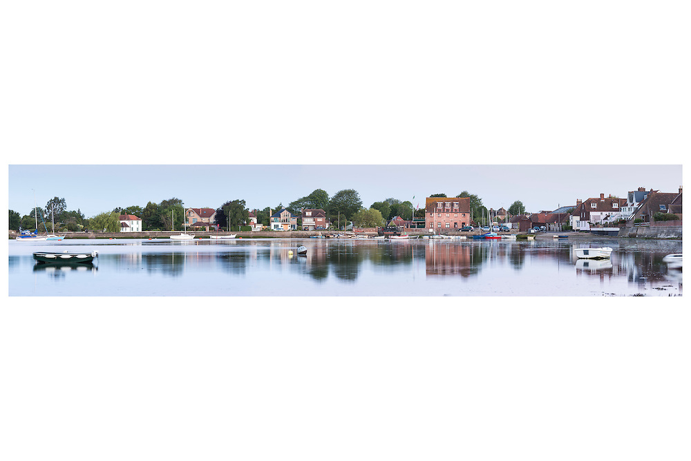 An unusual view across Emsworth harbour, on the Hampshire Sussex border. Beautiful still reflections in the water.    //   High quality prints are available from &pound;23, with a choice of sizes and finishes. Print dimensions match readily available frames. For larger prints, we recommend professional mounting and framing. Multiple prints of similar size share one delivery charge, and next day delivery is available on orders placed before 1pm. Christmas deadline - 22nd December 2016. Full money-back guarantee if you're not happy for any reason.   //   <br />