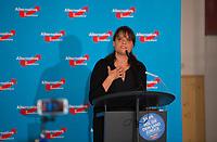 DEU, Deutschland, Germany, Hönow bei Berlin, 09.09.2017: Jeannette Auricht (MdA Berlin, AfD) bei einer Wahlveranstaltung der Partei Alternative für Deutschland (AfD) im Restaurant Mittelpunkt der Erde.