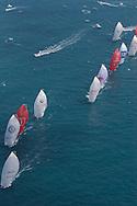 SPAIN, Valencia, April 6 2007,Louis Vuitton Act 13, Race 4, Fleet leave the top mark