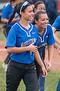 Middletown, New York - Middletown High School plays Pine Bush in a Section 9 girls' softball quarterfinal playoff game on May 26, 2015.