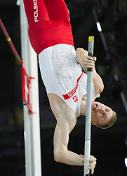 Piotr Lisek of Poland competes during the men's Pole Vault competition at the 2016 IAAF World Indoor Athletics Championships at the Oregon Convention Center in Portland, the United States, on March 17, 2016. EXPA Pictures © 2016, PhotoCredit: EXPA/ Photoshot/ Yang Lei from Chongqing<br /> <br /> *****ATTENTION - for AUT, SLO, CRO, SRB, BIH, MAZ, SUI only*****