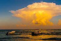 Thunderhead cloud, Playa del Carmen, Riviera Maya, Quintana Roo, Mexico.