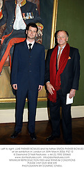 Left to right, LUKE PARKER BOWLES and his father SIMON PARKER BOWLES in front of a painting of his brother Andrew Parker Bowles at a private view of artist Lucian Freud's Llatest paintings held at The Wallace Collection, Manchester Square, London on 30th March 2004.