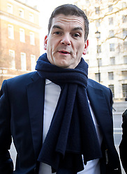 © Licensed to London News Pictures. 28/01/2019. London, UK. Prime Minister's Europe Adviser OLLY ROBBINS is seen arriving at the Cabinet Offices on WHitrehall. MPs on Tuesday will vote on a series of amendments to the PM's plans that could shape the future direction of Brexit.. Photo credit: Ben Cawthra/LNP